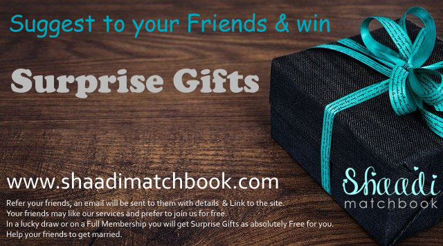 Suggest our Matrimony site and win gift for marriage